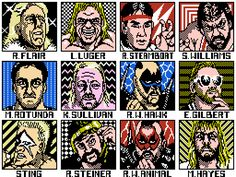 The NWA Nintendo game. Loved playing this, and for that time period, the graphics weren't bad Wrestling Games, Wrestling Videos, Wcw Wrestling, Wcw Games, World Championship Wrestling, The Road Warriors, Back In My Day, Classic Video Games, Vintage Games