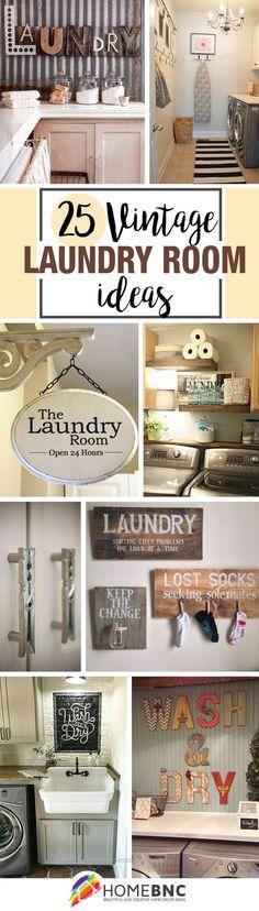 Vintage Laundry Room Decor Designs – Vintage Home Decor Laundry Room Remodel, Laundry In Bathroom, Small Laundry, Basement Laundry, Laundry Closet, Washroom, Laundry Room Wall Decor, Laundry Drying, Decor Room