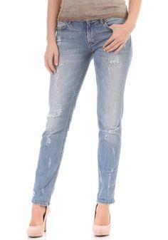 86b1d317070ea1 #planetsports RICH&ROYAL - Womens Boyfriend Strong Destroyed Jeans original  Seitentaschen, Wolle Kaufen, Freund