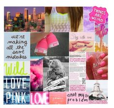 """// make it pop like pink champagne in the purple rain, we're gonna paint paint paint the city, we're gonna show off all our pretty, pretty pink champagne, let em know our names screamin' so loud they'll hear us in LA, poppin like pink champagne //"" by mare-bear-moonlight ❤ liked on Polyvore featuring Sharpie and Victoria's Secret"