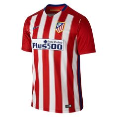 25393f6fb  89.99 Add to Cart for Price - Nike Atletico Madrid Home  15- 16 Soccer  Jersey (Varisty Red White Drenched Blue)