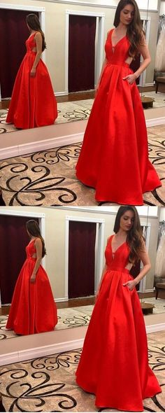 Sexy Prom Dresses,V-Neck Prom Gown,Long Evening Dress,Sleeveless Evening Dresses,Satin Prom Dresses,Sleeveless Formal Dress