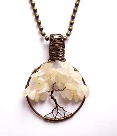 Miniträd - Halsband med aragonit