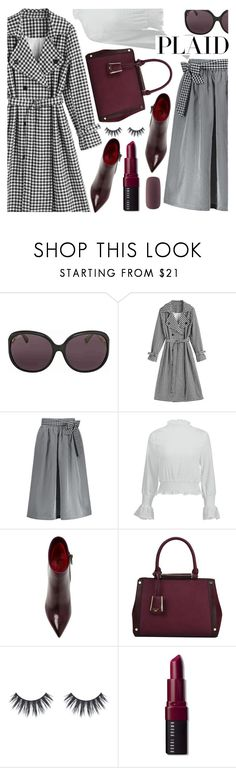 """""""Check It: Plaid"""" by deeyanago ❤ liked on Polyvore featuring Gucci, Santoni, Dune, Bobbi Brown Cosmetics and Forever 21"""
