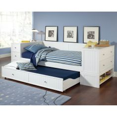 Cody Daybed Trundle End Chest Storage Hilale Furniture Wooden Platform Bed Drawer
