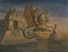 Support Jake Baddeley in making a book of his paintings on the 12 Western Signs of the Zodiac!  This is Capricorn