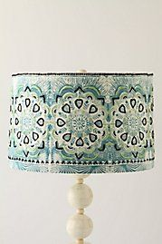 to unify jamie young jute lamp and vintage aqua twist lamp