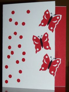 Red Butterflies Birthday Greeting Card