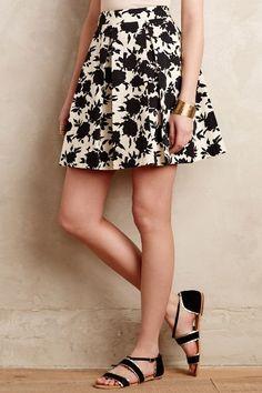 Rosebud Silhouette Skirt #anthrofave
