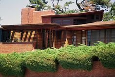 Hanna House, 'Honeycomb House'. Frank Lloyd Wright. 1937. Stanford, California. Usonian Style.
