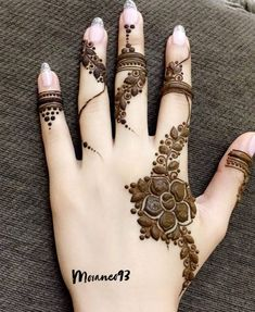 #beautiful #henna #design #mehndi #tattoo #ink #eid #wedding Finger Henna Designs, Henna Art Designs, Mehndi Designs For Girls, Mehndi Designs 2018, Mehndi Designs For Beginners, Stylish Mehndi Designs, Mehndi Designs For Fingers, Wedding Mehndi Designs, Mehandi Designs
