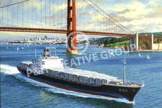 Vintage Retro San Francisco Golden Gate Travel Poster http://www.realretrosource.com