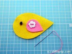 Create A Pretty Gold Birdie Felt Hairclip 4