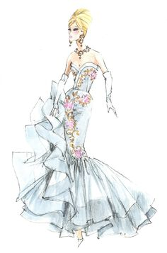 Barbie haute couture by robert best fashion illustration искусство мода, . Fashion Illustration Face, Illustration Mode, Fashion Illustrations, Fashion Dolls, Fashion Art, Vintage Fashion, Fashion Design, Dress Sketches, Fashion Sketches