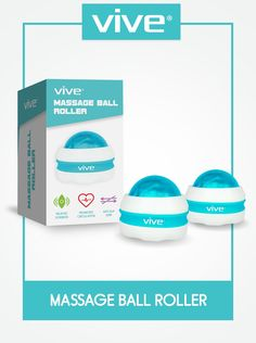Amazon.com: Massage Roller Ball by Vive (Pair) Self, Full Body Manual Massager for Athletes and Sore Muscle Pain Relief