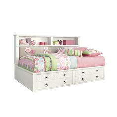 Pretty sure this is my ideal headboard for my nest.  Signature Design by Ashley Iseydona Bookcase Headboard