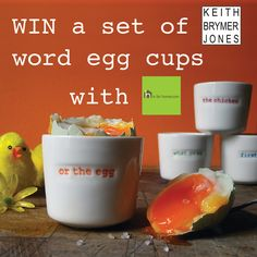 Win a set of Keith Brymer Jones 'Word' egg cups