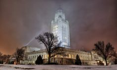 """""""Capitol in the Mist"""" by Zuiun  Nebraska Capitol Building, Lincoln, NE - Loved these kind of nights in Lincoln"""