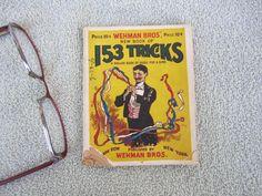 Antique Magic Tricks Rare Book Magician Collectible Card ESP Psychic 1907