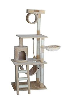 cat tree tower condo furniture scratch post kitty cat house play furniture sisal pole stairs and hammock  beige   u003e u003e u003e discover this special cat product     gleecat 68 in  5 level cat tree with hammock   insider u0027s special      rh   pinterest