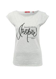 T-Shirt mit Pailletten-Schriftzug von s.Oliver. Entdecken Sie jetzt topaktuelle…