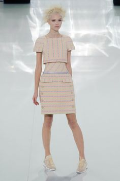 Karl Lagerfeld Gets Sporty at Chanel Haute Couture: Chanel doesn't follow the rules — it makes them.