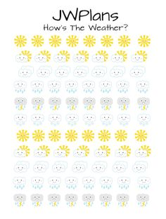 PRINTABLE! Weather planner stickers!
