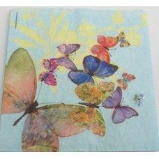 Guardanapo borboletas FD AzulC