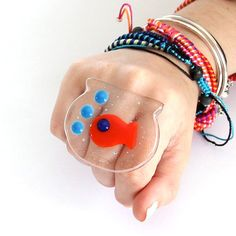 New Year Fashion Fused Glass Cocktail Ring   big от StudioLeanne