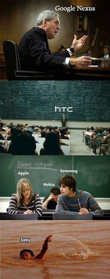 Google vs htc vs apple vs samsung vs nokia vs sony