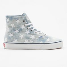 Vans... similar to the hi top converse but these would be so comfortable and i especially like the star print on them.