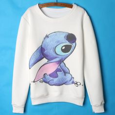 Cheap lilo and stitch hoodie, Buy Quality stitch hoodie directly from China women hoodies Suppliers: Lilo and stitch Hoodies Women Cute Cartoon Sweatshirts Womens Hoodies Pullover White Femme 2015 Autumn Winter clothing