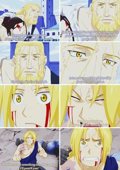 Fullmetal alchemist, Edward, Hohenheim Ed really does love his dad, no matter how much he denies it.