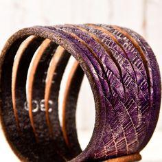 upcycled belt bracelet