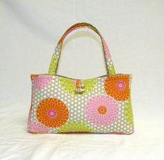Weekend Fun  Mums in pink lime green orange on by bagsbystacey, $22.00  This is so cute, I have to have one!!!