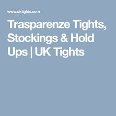 Trasparenze Tights, Stockings & Hold Ups | UK Tights