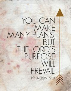 The Lord's purpose