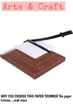 WHY YOU CHOOSE THIS PAPER TRIMMER The paper trimmer is easy and convenient to cut up to 12 sheets at one time, making your cutting work more efficient. Product Specification: Material: Plasticand Metal Dimension: 48.5 x 38.5 x 3.3cm/ 18.9 x 15.0 x 1.3inch (L x W x H) Handle Length: 65cm/ 25.4inch Clamp Length: 20.5cm/ 8.0inch Size Indicator Including: A2, A3, B4, A4, B5, A5, B6, B7 Use For: A3 Item: Paper Cutter Opportunity: Home, Office Cutter Paper Quantity:... (This is an affiliate pin) Paper Trimmer, Craft Supplies, Make It Yourself, Easy, Crafts, Manualidades, Handmade Crafts, Craft, Arts And Crafts