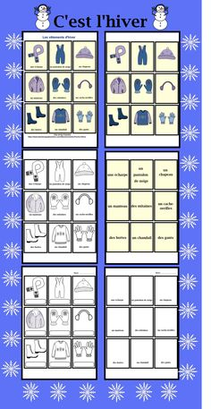 C'est l'hiver!  Les vêtements d'hiver. $ French Teaching Resources, Teaching French, How To Speak French, Learn French, French Language Course, French Conversation, Core French, French Classroom, French Teacher