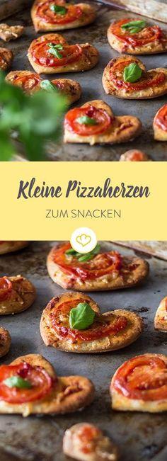 Wenn du Lust auf Pizza hast ... Wenn du deinen Lieben zeigen willst, wie gern du sie hast ... Dann sind die kleinen Pizzaherzen genau das Richtige für dich.