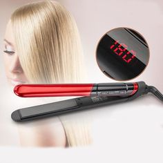 LCD Display 2-in-1 ceramic coating Hair straightener comb hair Curler – Gifts Leads