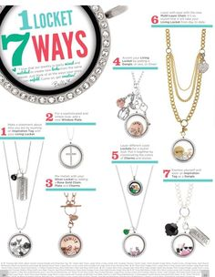 One Locket...7 ways! Order now with me at www.shaneyp.origamiowl.com