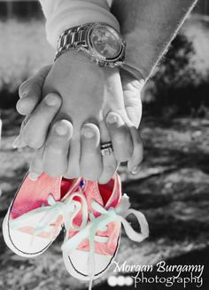 Maternity Photography. Another cute gender reveal. Use blue chucks for a boy.