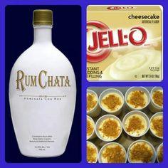 Rum chata cheesecake pudding shots