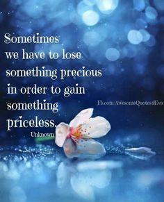 Lose precious for priceless