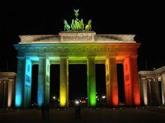 Rainbow Brandenburg Gate.