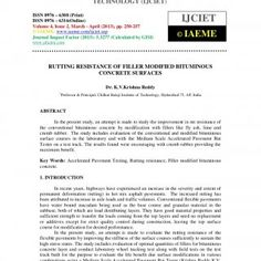 International Journal of Civil Engineering and Technology (IJCIET), ISSN 0976 – 6308(Print), ISSN 0976 – 6316(Online) Volume 4, Issue 2, March - April (2013. http://slidehot.com/resources/rutting-resistance-of-filler-modified-bituminous-concrete-surfaces-2.57797/