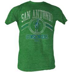 USFL San Antonio Gunslingers Retro Mens Logo T-Shirt