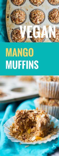 ... mango muffins are studded with juicy mango chunks and crunchy walnut