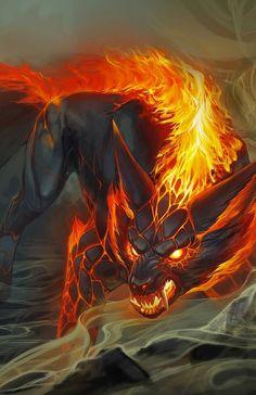 Dark Fantasy Art, Fantasy Wolf, Fantasy Beasts, Anime Wolf, Manga Anime, Artwork Lobo, Wolf Artwork, Mythical Creatures Art, Mythological Creatures